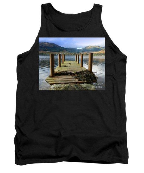 Tank Top featuring the photograph Long Walk Off A Short Pier by Lynn Bolt