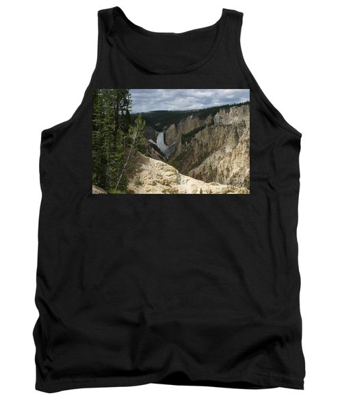 Tank Top featuring the photograph Lower Falls Of Yellowstone by Living Color Photography Lorraine Lynch