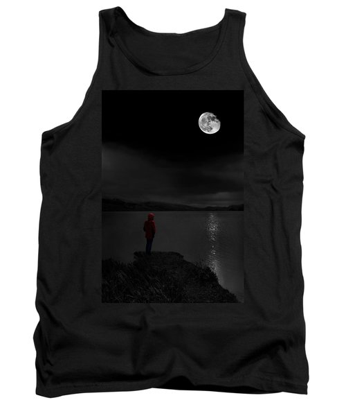 Tank Top featuring the photograph Lunatic In Red by Meirion Matthias