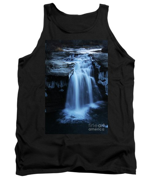 Tank Top featuring the photograph Lundbreck Falls by Alyce Taylor
