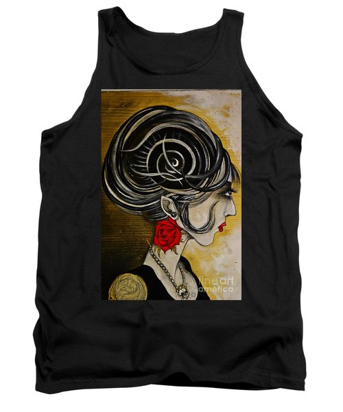 Tank Top featuring the painting Madame D. Eternal's Dance by Sandro Ramani