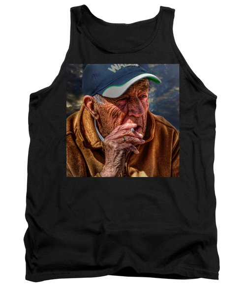Man Smoking Tank Top