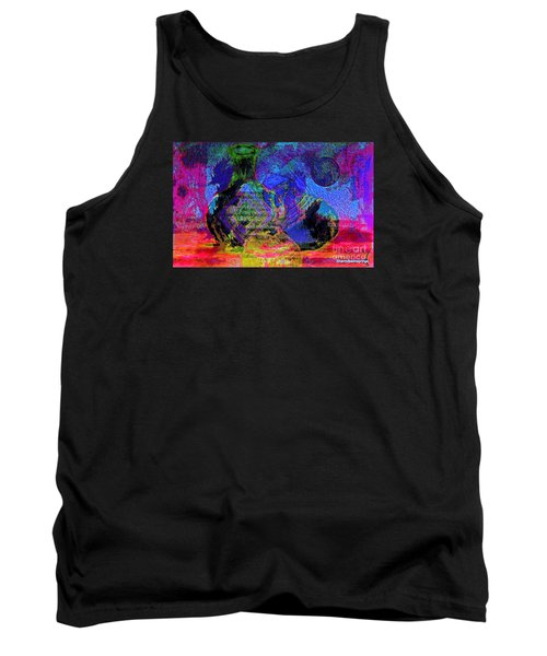 Tank Top featuring the painting Mapped In Time  Pottery Collection by Sherri  Of Palm Springs