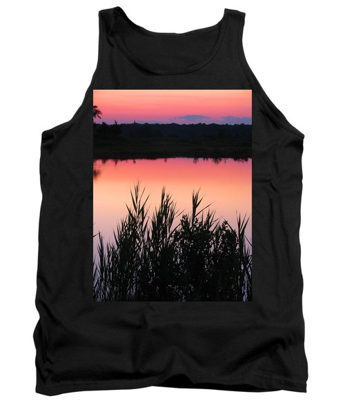 Tank Top featuring the photograph Marsh Sunset by Clara Sue Beym