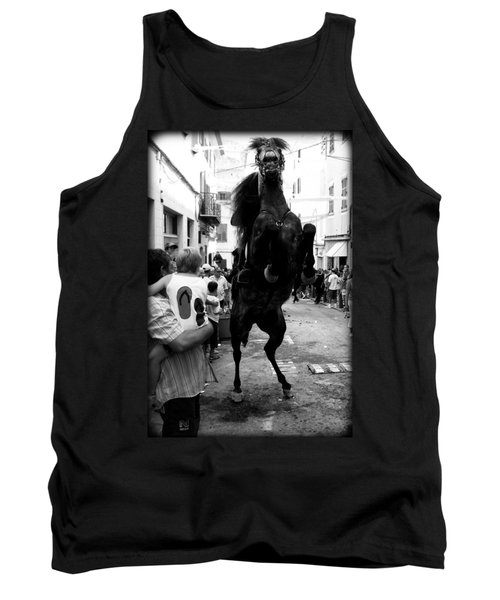Tank Top featuring the photograph Menorca Horse 3 by Pedro Cardona