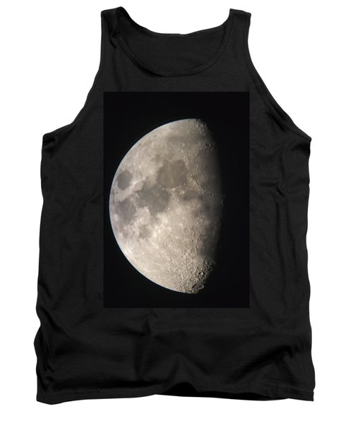 Tank Top featuring the photograph Moon Against The Black Sky by John Short
