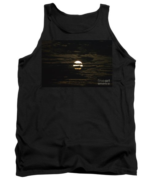 Tank Top featuring the photograph Moon Behind The Clouds by William Norton