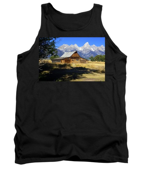 Tank Top featuring the photograph Mormon Row Barn by Marty Koch