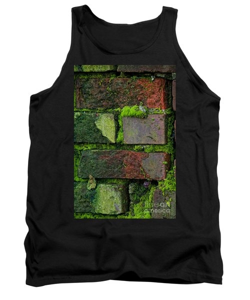 Mossy Brick Wall Tank Top by Carol Ailles