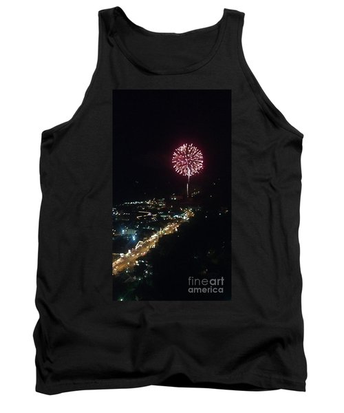Tank Top featuring the photograph Mountain Fireworks by Janice Spivey