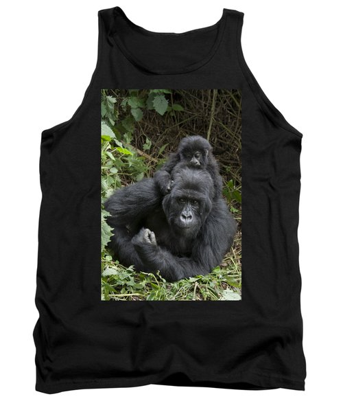 Mountain Gorilla Mother And 1.5yr Old Tank Top