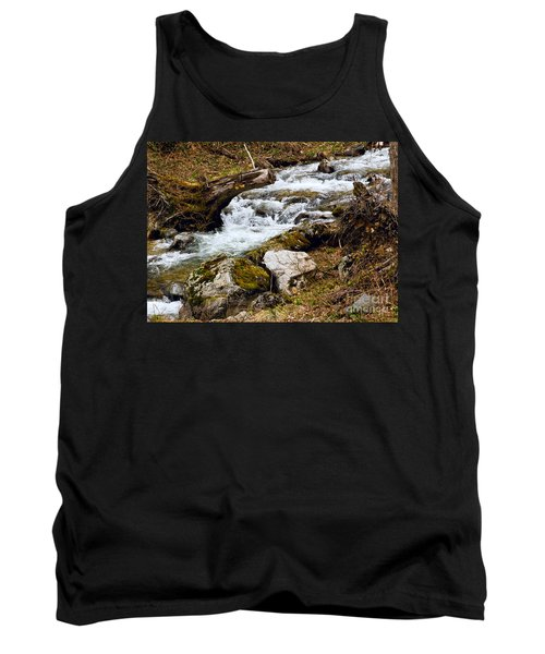 Tank Top featuring the photograph Mountain Stream by Les Palenik