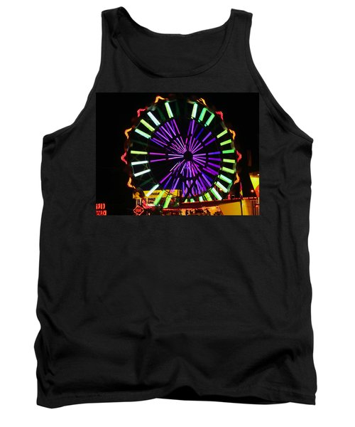 Tank Top featuring the photograph Multi Colored Ferris Wheel by Kym Backland