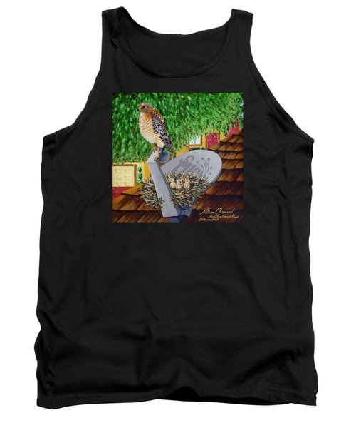 Nature Channel- Red Shouldered Hawk Tank Top
