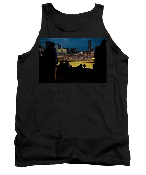 Night Game At Wrigley Field Tank Top
