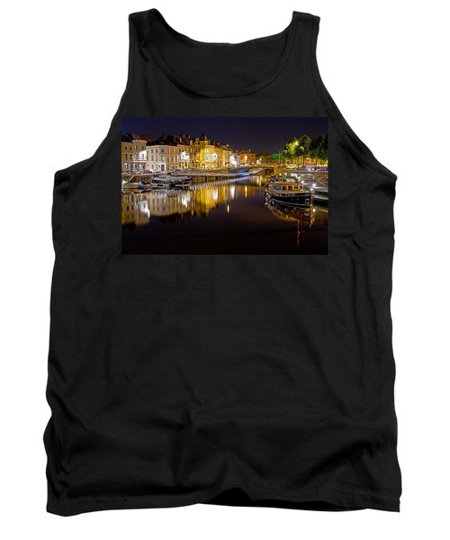 Nighttime Along The River Leie Tank Top
