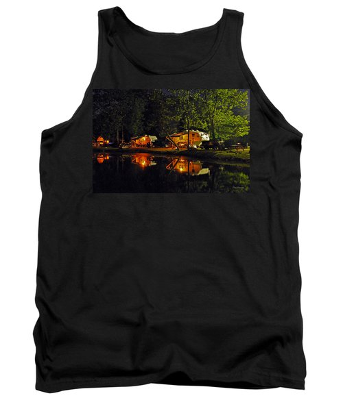 Nighttime In The Campground Tank Top