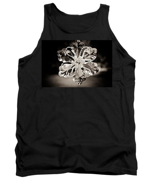 Tank Top featuring the photograph Noir Reflections by Sara Frank