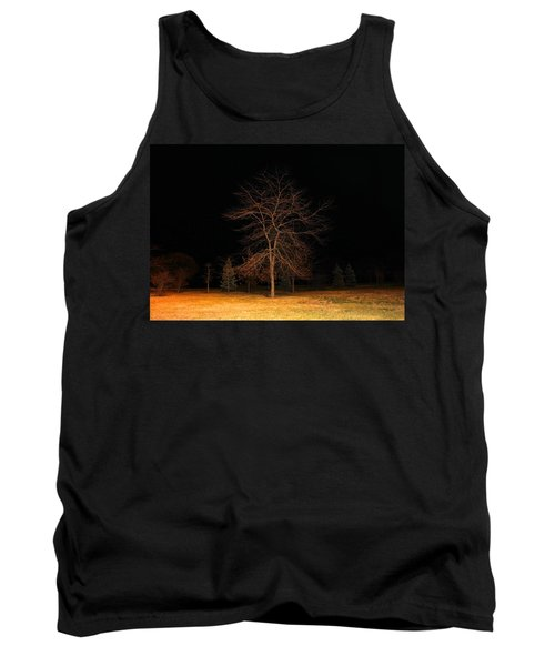 Tank Top featuring the photograph November Night by Milena Ilieva