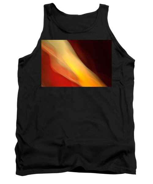 Tank Top featuring the mixed media O'keefe Iv by Terence Morrissey