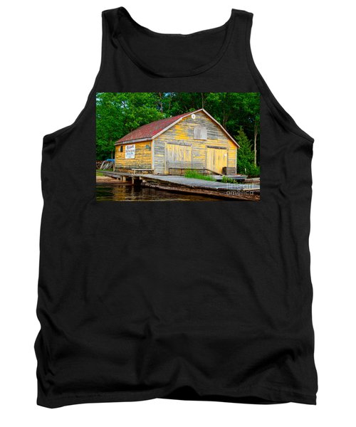 Tank Top featuring the photograph Old Cabin by Les Palenik
