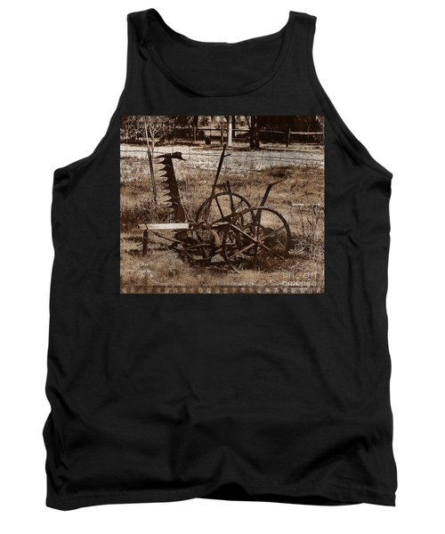 Tank Top featuring the photograph Old Farm Equipment by Blair Stuart