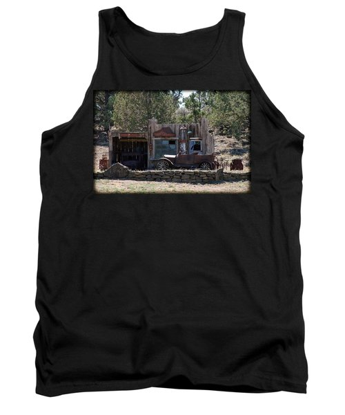 Tank Top featuring the photograph Old Filling Station by Athena Mckinzie