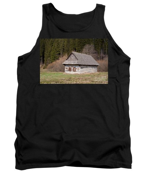Tank Top featuring the photograph Old Log House by Les Palenik