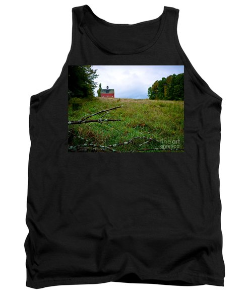 Old Red Barn On The Hill Tank Top
