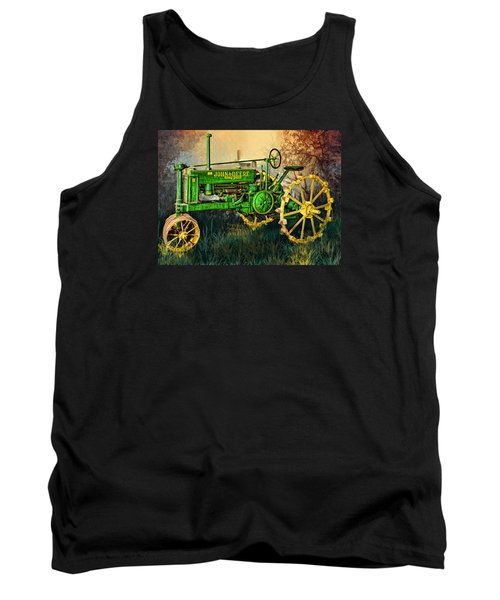 Tank Top featuring the digital art Old Tractor by Mary Almond