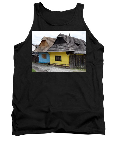 Tank Top featuring the photograph Old Wooden Homes by Les Palenik