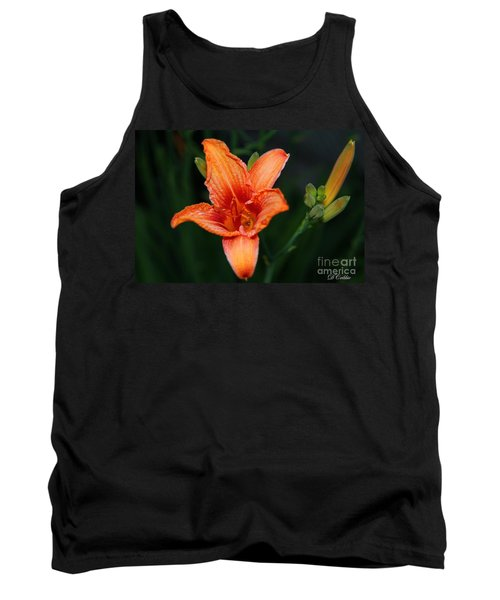 Tank Top featuring the photograph Orange Lily by Davandra Cribbie