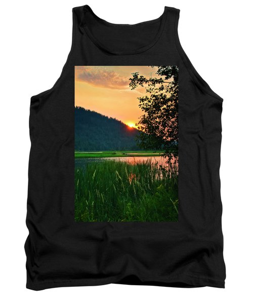 Pack River Delta Sunset 2 Tank Top by Albert Seger
