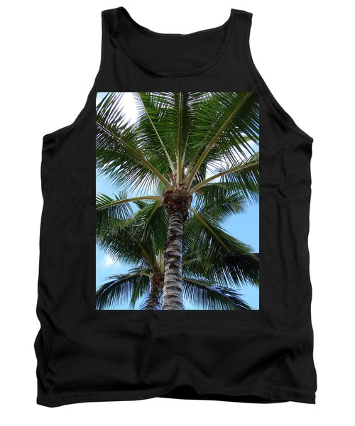 Tank Top featuring the photograph Palm Tree Umbrella by Athena Mckinzie