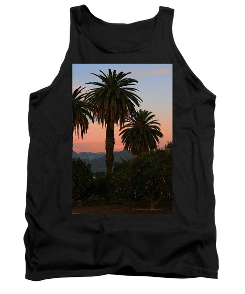 Palm Trees And Orange Trees Tank Top by Dorothy Cunningham