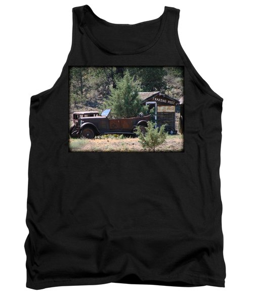 Parked At The Trading Post Tank Top by Athena Mckinzie