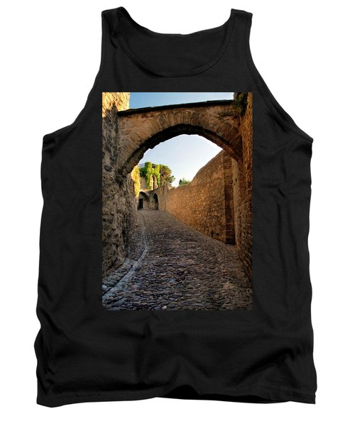 Tank Top featuring the photograph Pathway Through Gordes France by Dave Mills