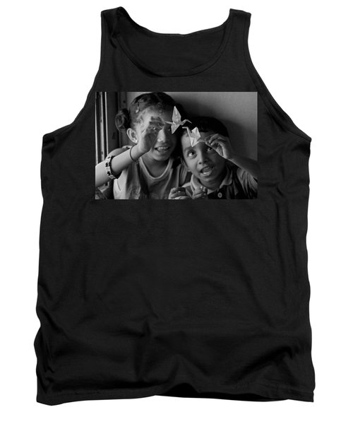 Peace And Love Tank Top by Valerie Rosen