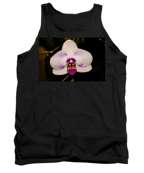 Tank Top featuring the photograph Phalaenopsis White Orchid by Tikvah's Hope