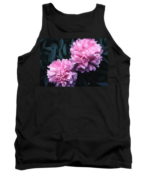 Tank Top featuring the photograph Pink Peony Pair by Tom Wurl