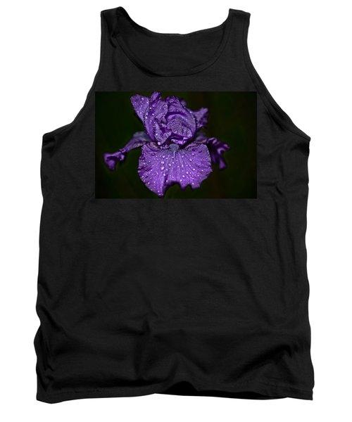 Purple Iris With Water Drops Tank Top