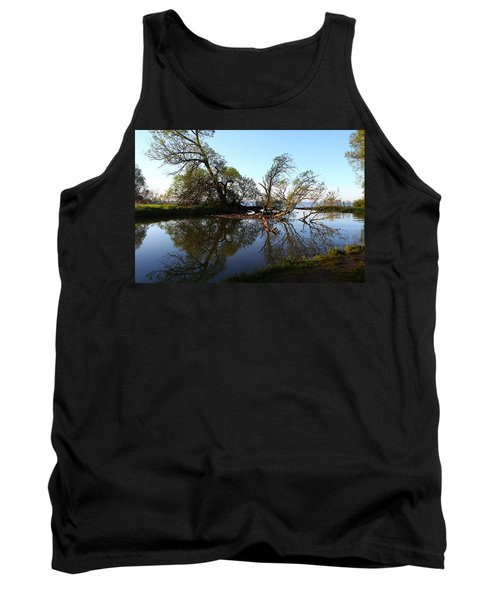 Quiet Reflection Tank Top by Davandra Cribbie