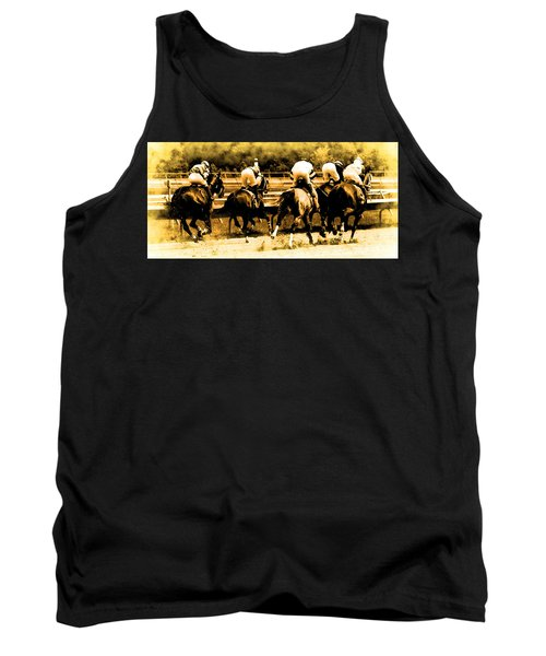 Tank Top featuring the photograph Race To The Finish Line by Alice Gipson