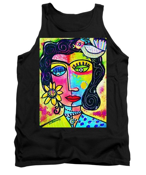 Rainbow Sunshine Frida Tank Top