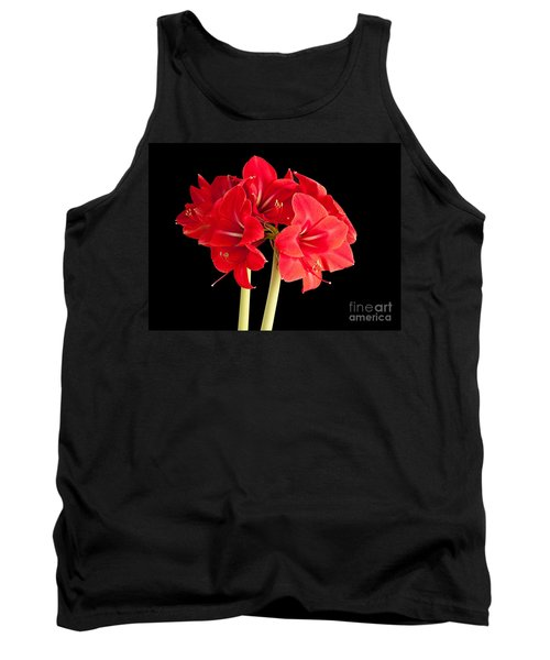 Tank Top featuring the photograph Red Amaryliss by Les Palenik