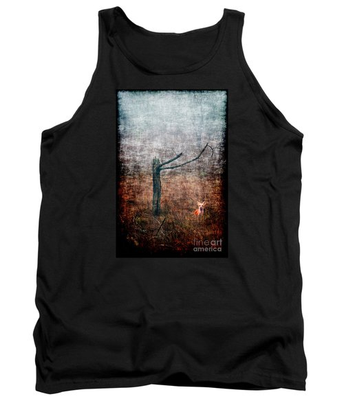 Tank Top featuring the photograph Red Fox Under Tree by Dan Friend