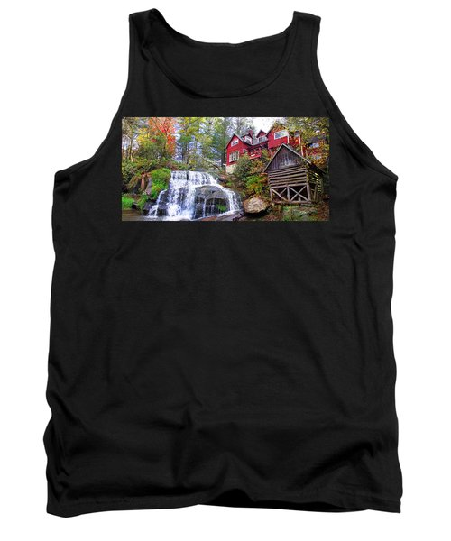 Red House By The Waterfall 2 Tank Top