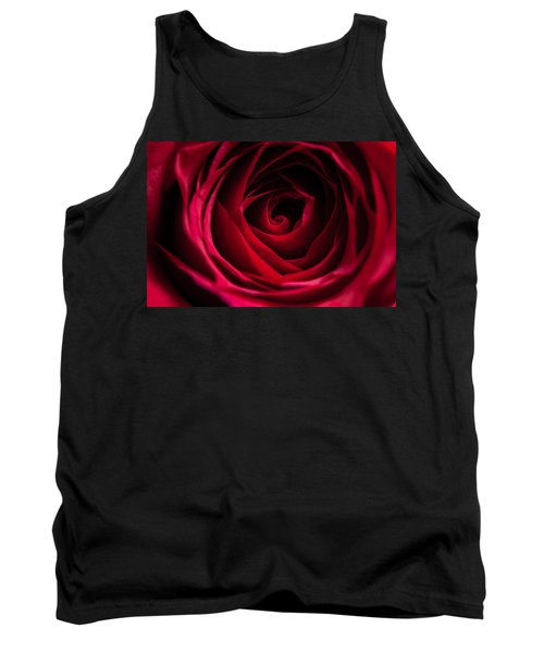 Tank Top featuring the photograph Red Rose by Matt Malloy