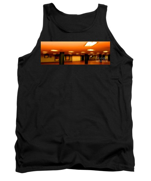 Tank Top featuring the photograph Red Subway by Andy Prendy