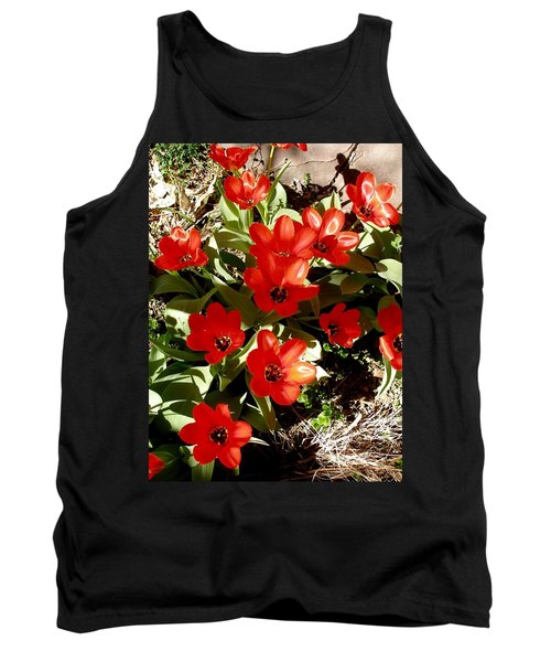 Tank Top featuring the photograph Red Tulips by David Pantuso